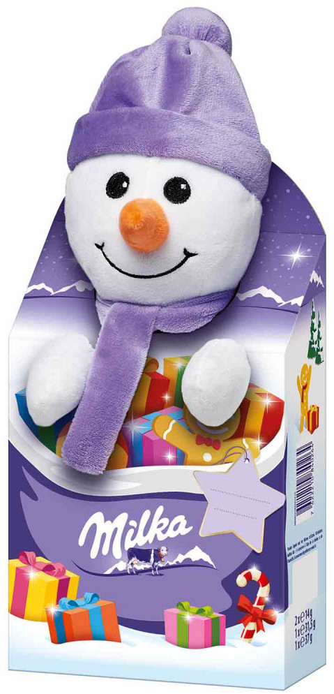 Milka Magic Mix Plüschtier Schneemann (96g)