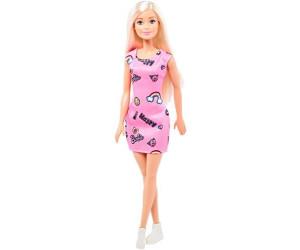 Barbie Barbie Chic - Puppe im pinken Kleid mit Prints