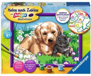 Ravensburger Malen Nach Zahlen Hund Und Katze 27789 Ab 11 99 Preisvergleich Bei Idealo De