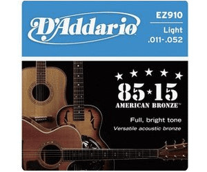 D/'Addario EZ910 Bronze Acoustic Guitar Strings 11-52 Multi PACK Offer!
