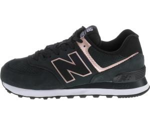 New Balance 574 Nubuck Wmns black with champagne metallic ab