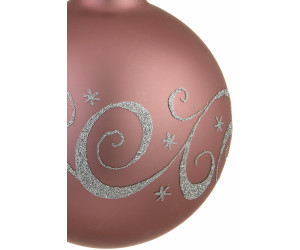 Christbaumkugeln Rose.Thuringer Glasdesign Steinheid Weihnachtskugeln Versailles