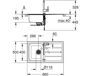 Grohe K500 Minta Set Spule Und Kuchenarmatur 31573sd0 Ab 293 48