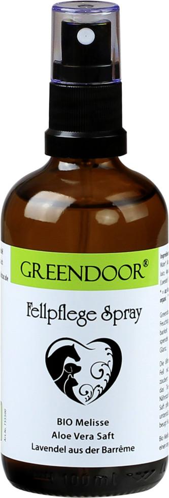 Greendoor Fellpflegespray mit Bio Melisse und Aloe Vera 100ml