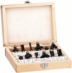 Einhell 12-teiliges Fräserset im Holzkoffer (43...