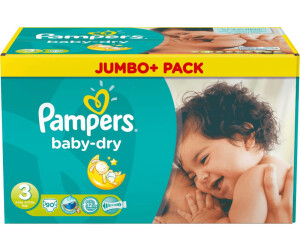 Baby Dry - Pack 1 mois Pampers x124 couches Couches Taille 6 13-18 kg