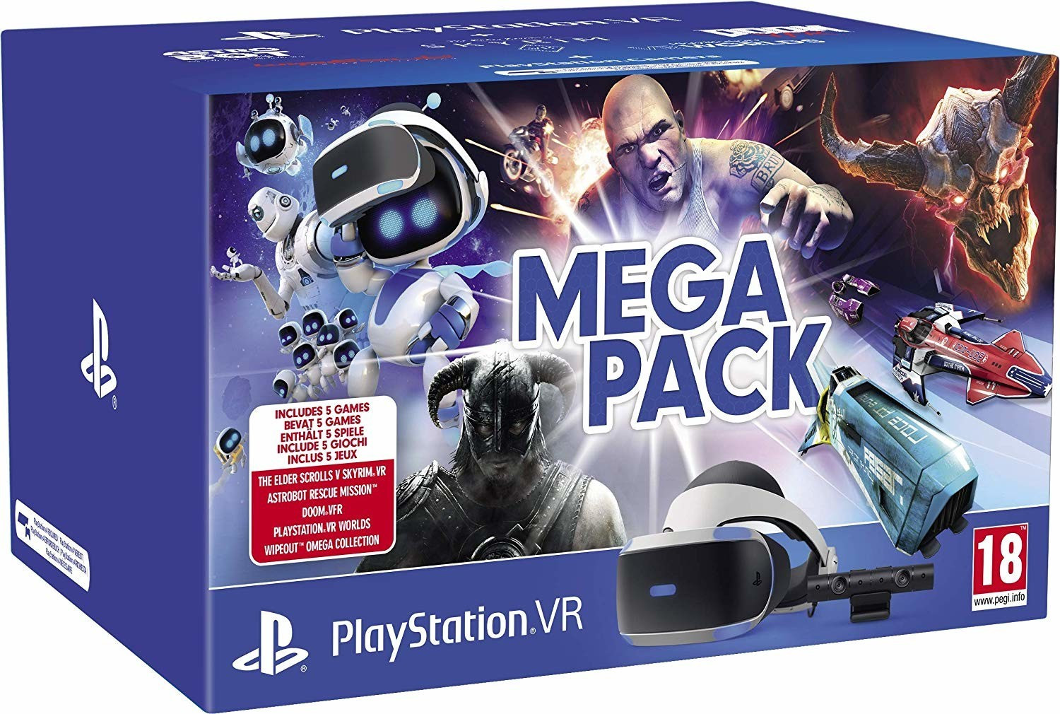 Image of Sony PlayStation VR V2 + PlayStation Camera + Mega Pack