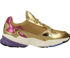 latest design detailed look classic Adidas Falcon Women gold metallic/gold metallic/off white ab ...