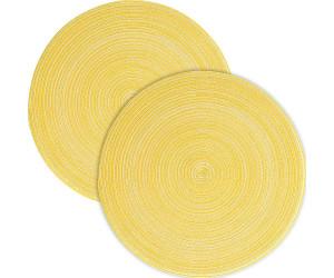 Pichler Tischset Samba im 2er-Pack gelb rund: 38 cm Ø