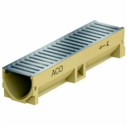 ACO Entwässerungsrinne mit Stahlrost 50 cm (38702)