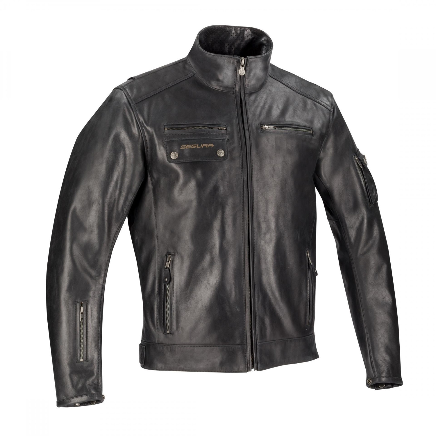 Image of Segura Cesar Leather Jacke