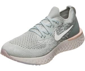 Nike Epic React Flyknit Women light silvermica green
