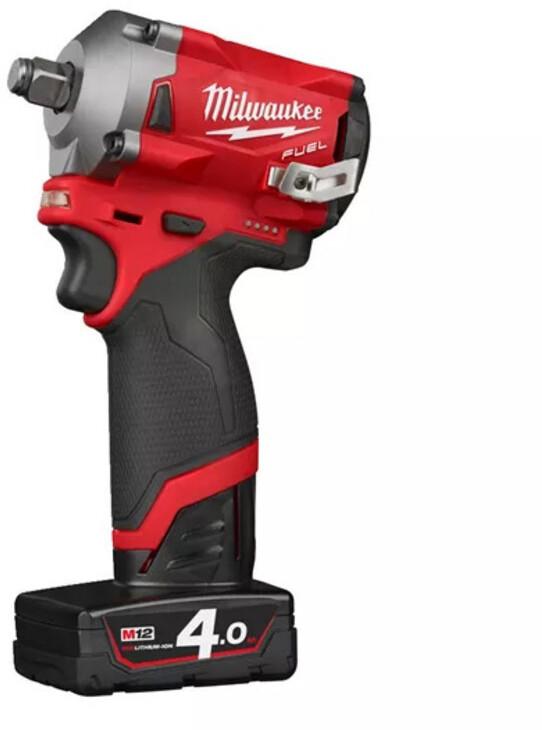 """Milwaukee m18 fiwf 12-0 Batterie-Visseuse 1//2/"""" Prise 300 Presque comme neuf patte de fixation"""