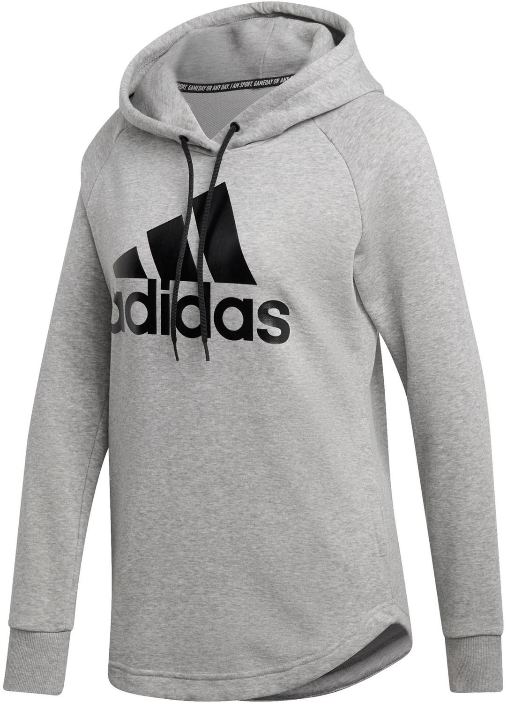 Adidas Must Have Badge of Sport Hoodie medium grey heather/black (DU0016)