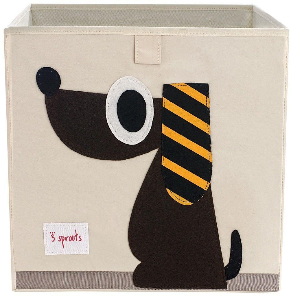 3 Sprouts Aufbewahrungsbox 33x33x33cm Hund