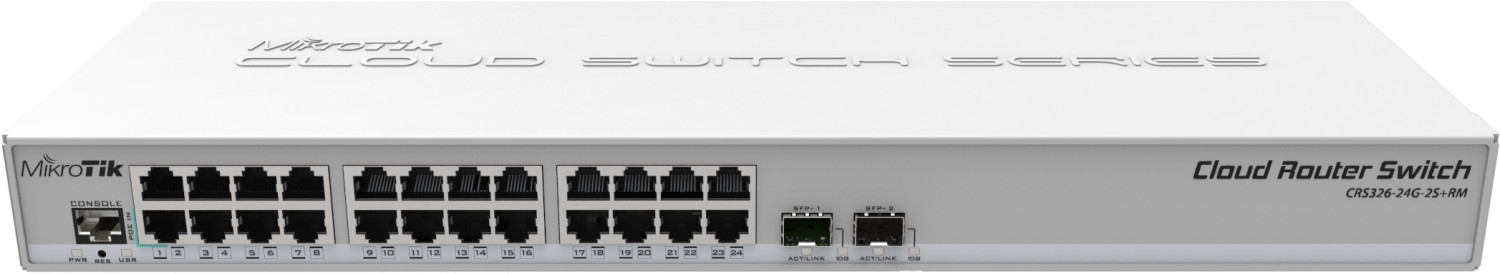 Image of MikroTik 24-Port Gigabit Switch (CRS326-24G-2S+RM)