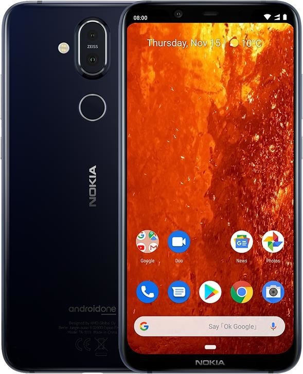 Image of Nokia 8.1 64GB Blue/Silver