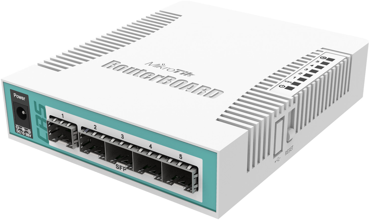Image of MikroTik 6-Port Gigabit Switch (CRS106-1C-5S)