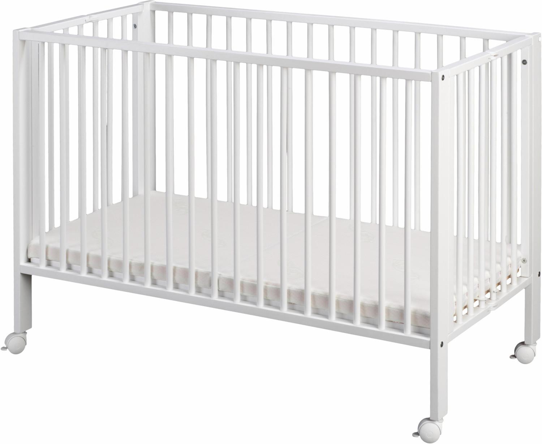 tiSsi Faltbares Babybett - weiß