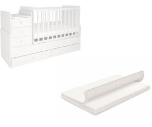 Polini Kids Set 1178 Kinderbett mit Kommode mitwachsend und ...