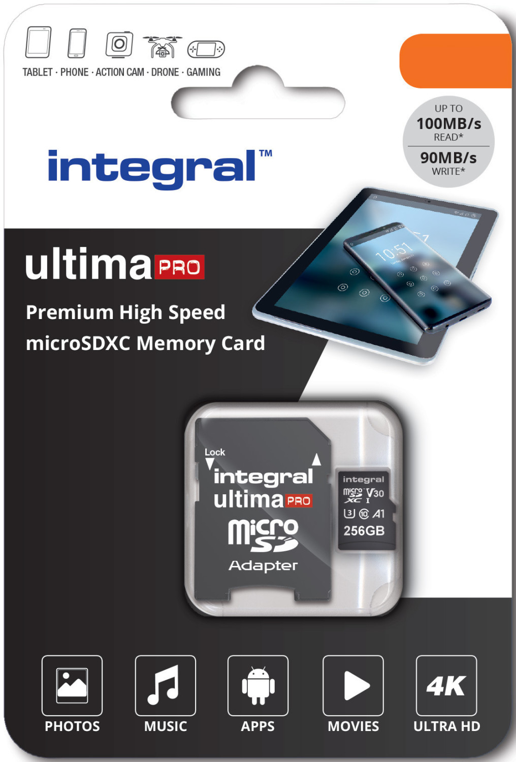 Integral ultimaPRO U3 V30 microSDXC 256GB