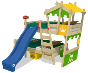 Etagenbett Mit Rutsche Wickey : Wickey crazy castle mit lattenboden und dach cm ab