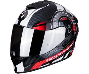 Negro//Rojo M Scorpion Casco de moto EXO-1400 AIR ATTUNE Matt Black-Red