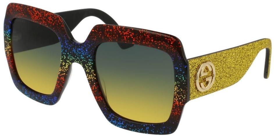 Occhiali da Sole Gucci GG0102S multicolore grigio giallo gradient  005