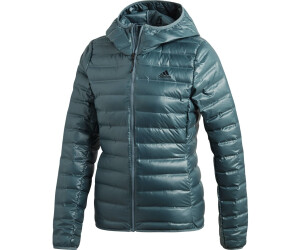 New Adidas Varilite Hooded Down Jacket Raw Green Women