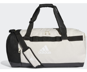 Buy Adidas Convertible Training Duffel Bag M raw white black white ... 5fa796349829a