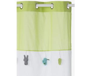 Vertbaudet Leichter Vorhang Fur Babyzimmer Weiss Grun Grau 105x180cm