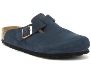 Buy Birkenstock Boston suede leather navy from £83.55 – Best