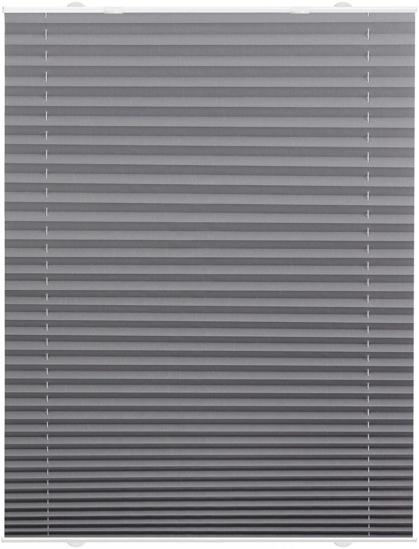 Lichtblick Plissee-Haftfix Crush-Optik (60 x 130 cm) grau