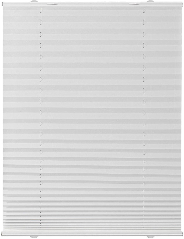 Lichtblick Plissee-Haftfix Crush-Optik (60 x 130 cm) weiß