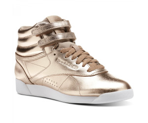 Reebok Freestyle Hi Metallic rose goldwhitesilver peony ab