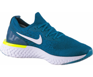 Nike Epic React Flyknit Green Abyss White Blue Force Volt ab