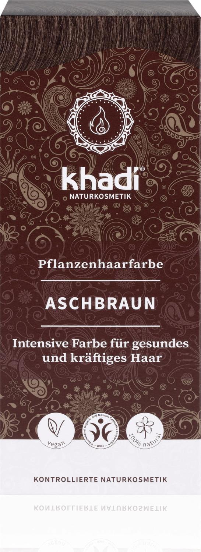 Khadi Pflanzenhaarfarbe Aschbraun (100g)