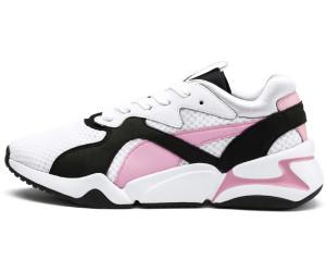 Puma – Nova – Sneaker im Stil der 90er in Weiß und Rosa