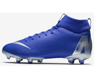 1886bf1c664c Nike Jr Mercurial Superfly VI Academy MG GS Youth Racer  Blue Schwarz Volt Metallic Silver