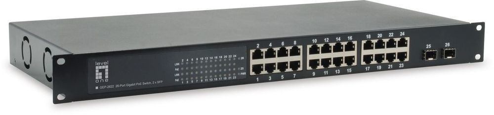 Image of Level One 26-Port Gigabit PoE Switch (GEP-2622W380)