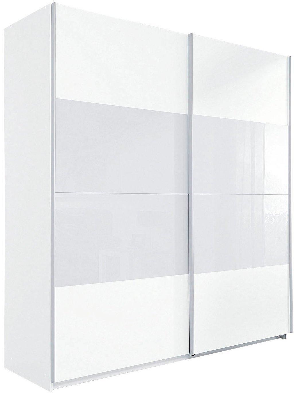 Wimex Enter 180cm weiß/Weißglas