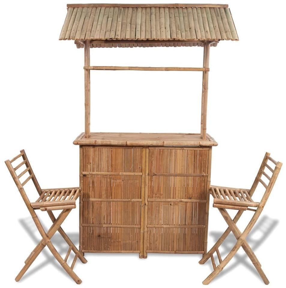 vidaXL Garten-Bar mit Barhockern 3-tlg. Bambus (41500)