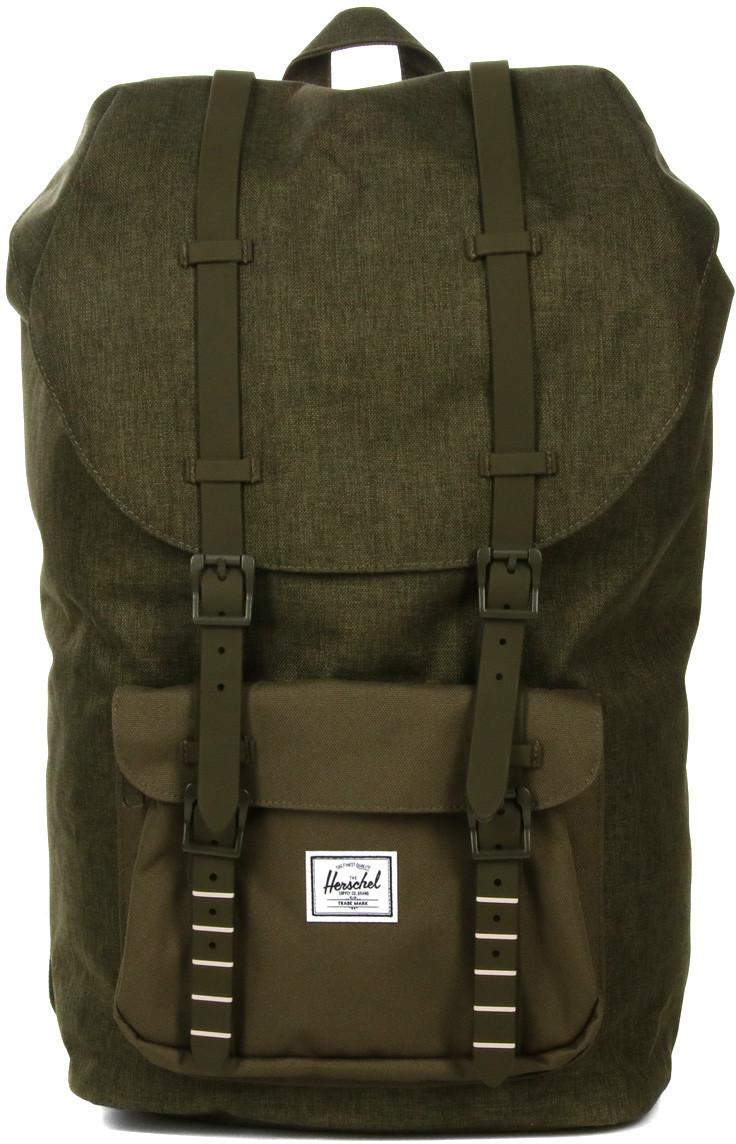 Herschel Little America Backpack olive night crosshatch/olive night