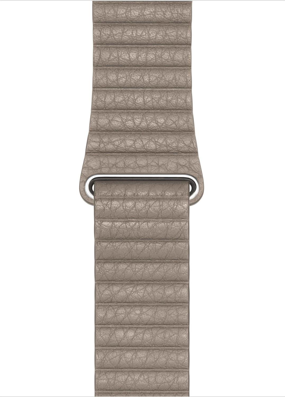 Apple Watch 44 mm Lederarmband mit Schlaufe stein