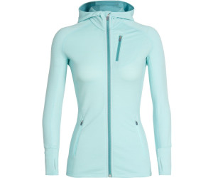 Icebreaker Women's Quantum Long Sleeve Zip Hood aqua splash