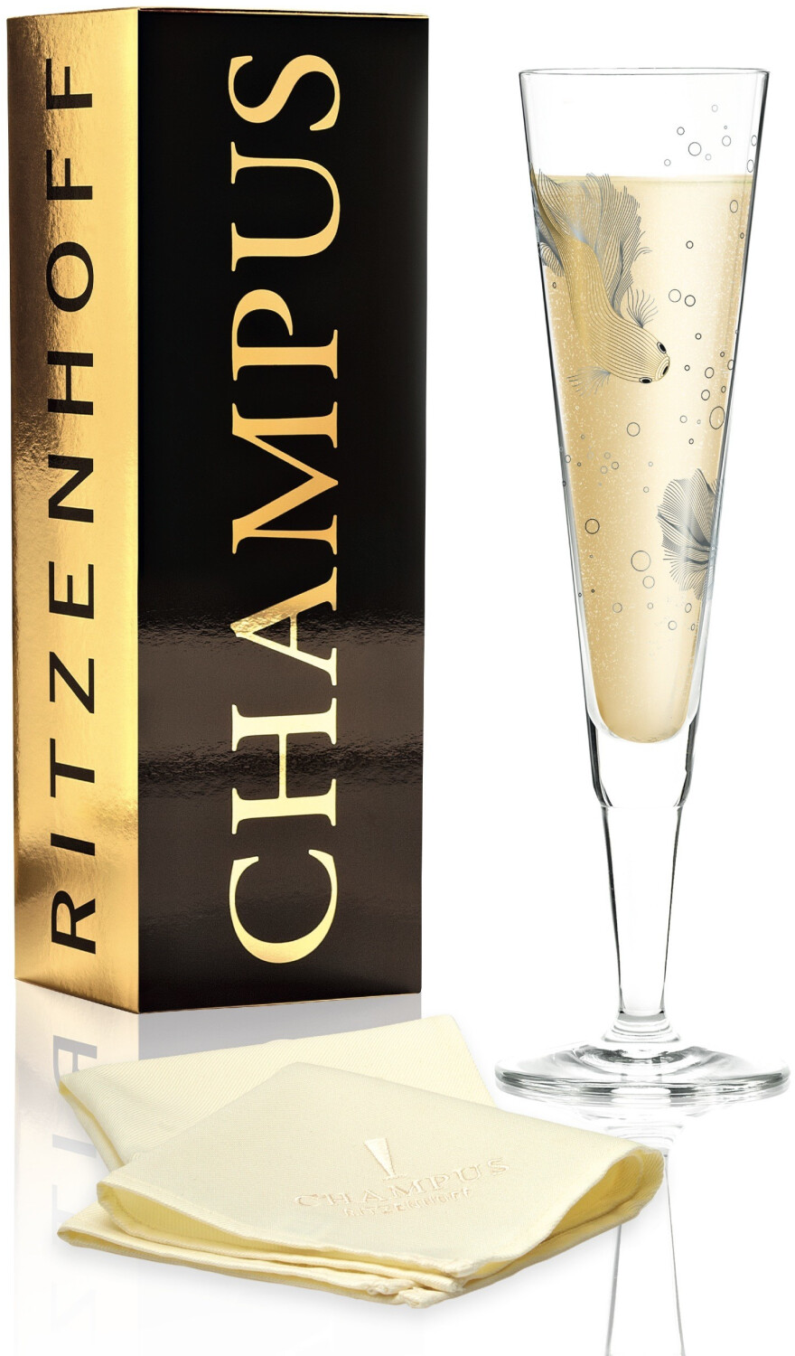 Image of Ritzenhoff Champagne glass with napkin Champus 2019