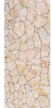 mySPOTTI Duschrückwand Natursteinwand beige 90x210 cm