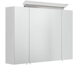 Posseik Spiegelschrank 90x64,4x16,6cm mit integrierter LED ...