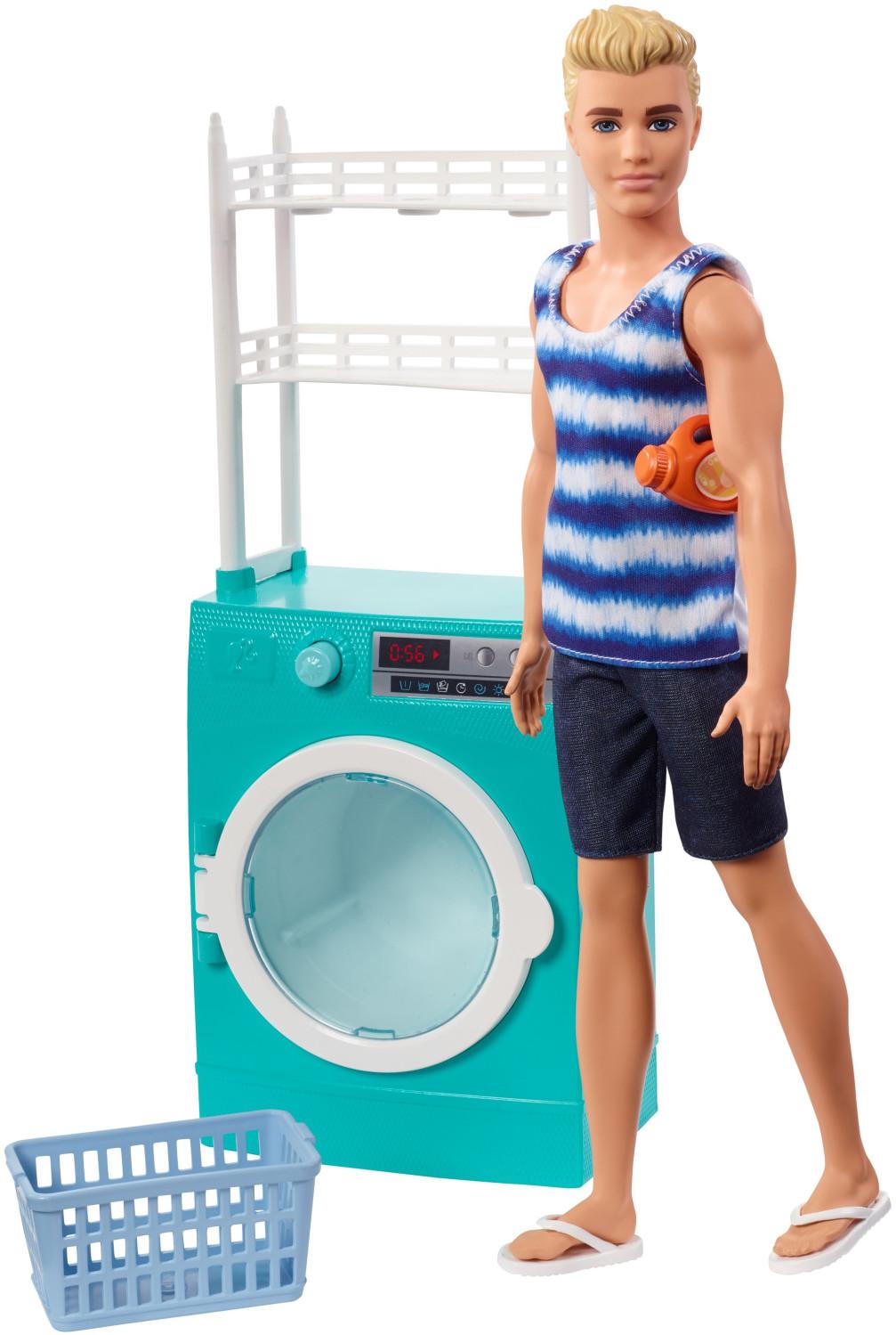 Barbie Ken Puppe mit Waschmaschine