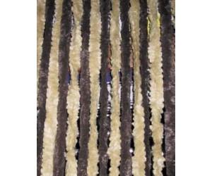 Chenille Flauschvorhang 100 x 205 cm grau//anthrazit//schwarz